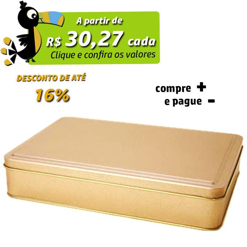 16,2 x 23,2 x 4,5cm - Lata Dourada - REF.0010957