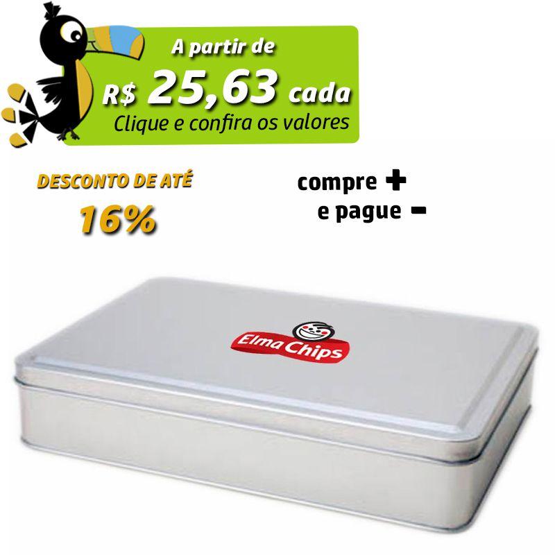 16,2 x 23,2 x 4,5cm - Lata Prata - REF.0010892