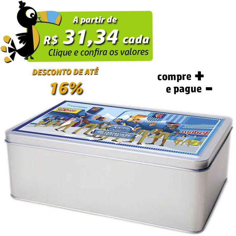 16,2 x 23,2 x 8,1cm - Lata Prata - REF.0010893