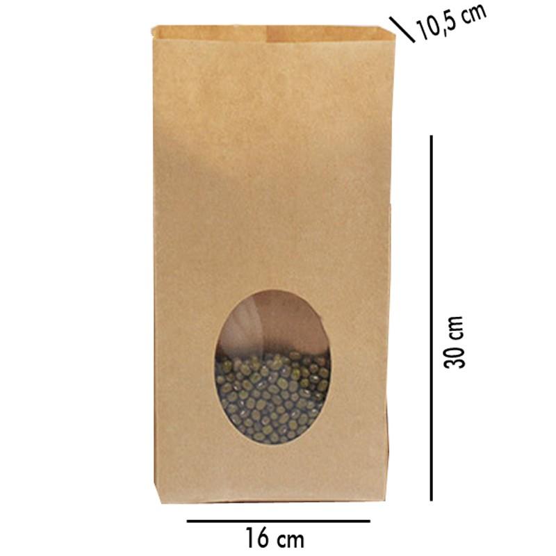 16x10,5x30cm - Saco de Papel com Visor - REF.0050010