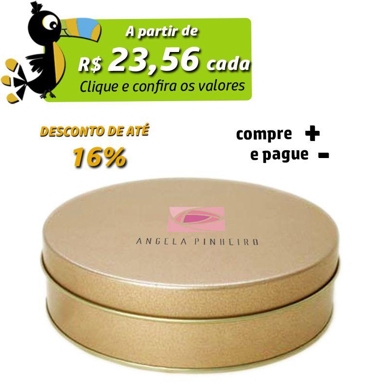 17,5 x 4,4cm - Lata Dourada - REF.0010982