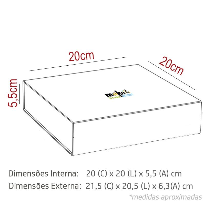 20 x 20 x 5,5cm - Branca - Premium - REF.025121 - A PARTIR DE