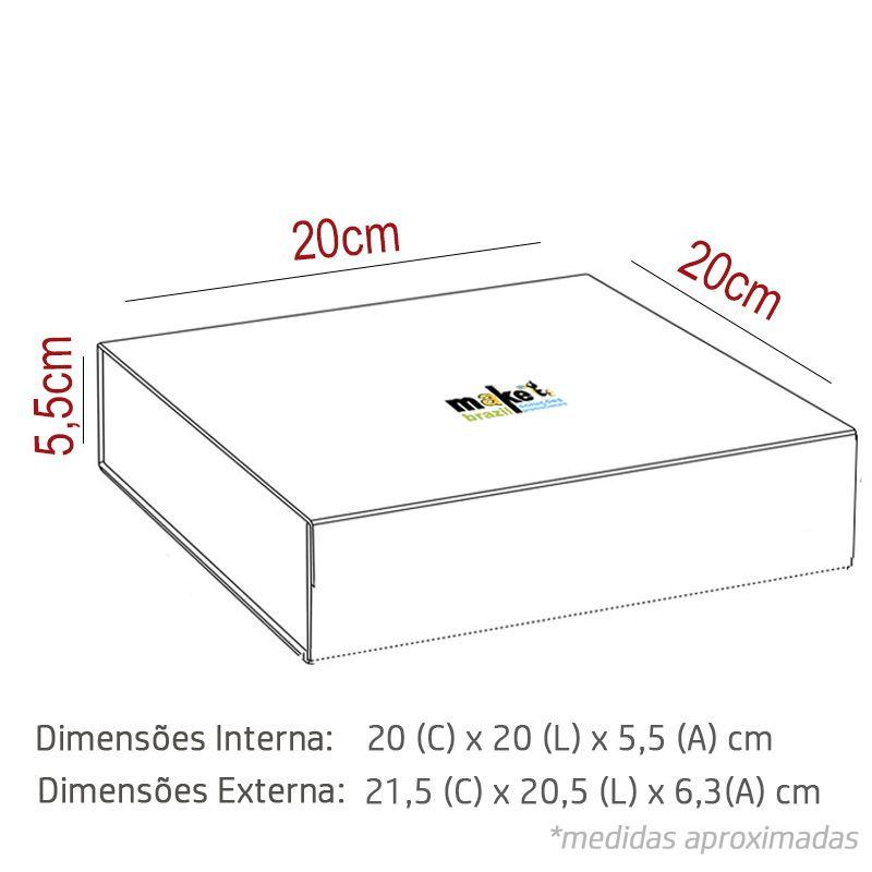 20 X 20 X 5,5CM - CAIXA PREMIUM MAGNÉTICA BRANCA - REF.020131