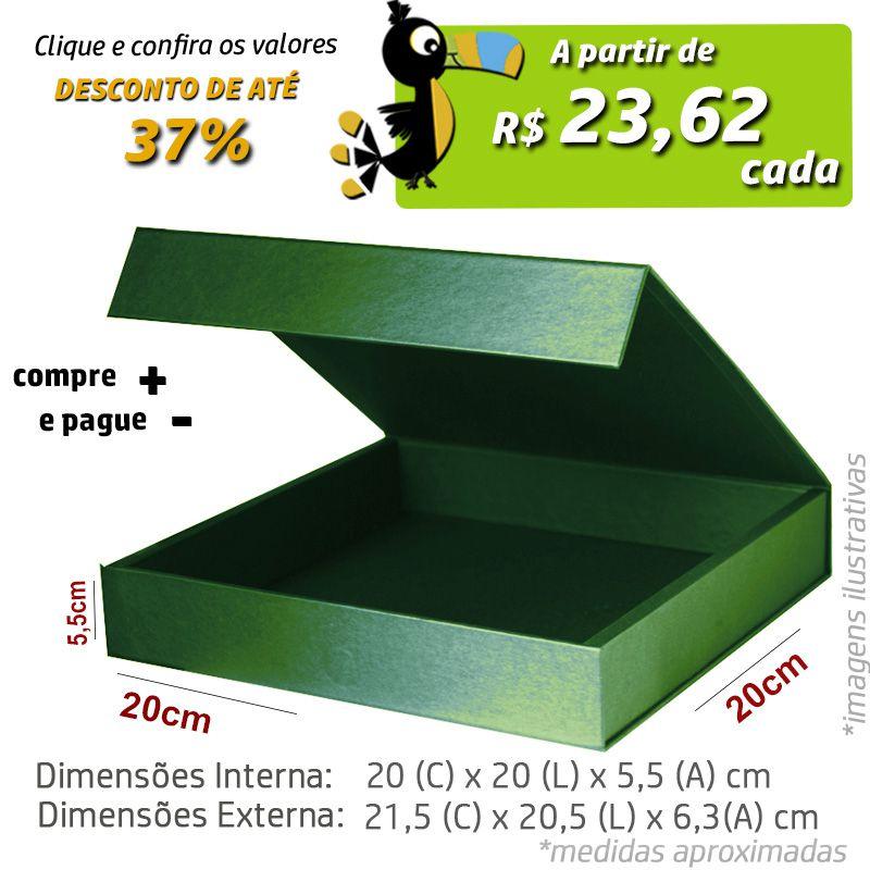 20 X 20 X 5,5CM - CAIXA PREMIUM MAGNÉTICA COLOR - REF.020132