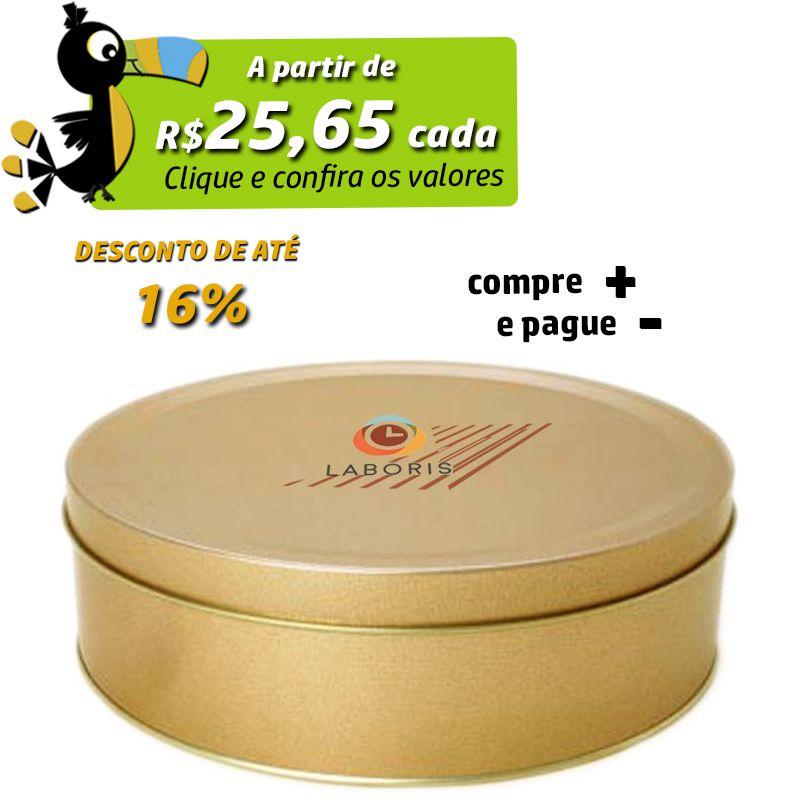 20 x 6,1cm - Lata Dourada - REF.0010984