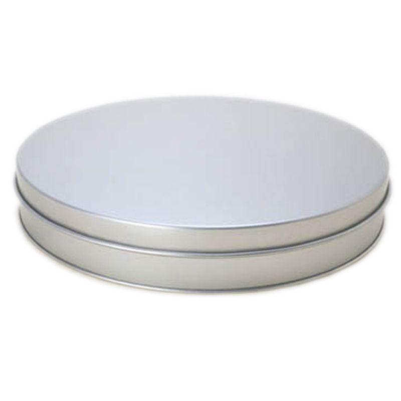 21,5 x 4cm - Lata Aço Redonda Prata