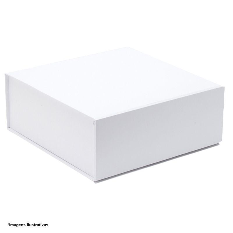 22 x 22 x 6cm - Caixa Rígida Magnética Branca - Ref.0200012 - A partir de