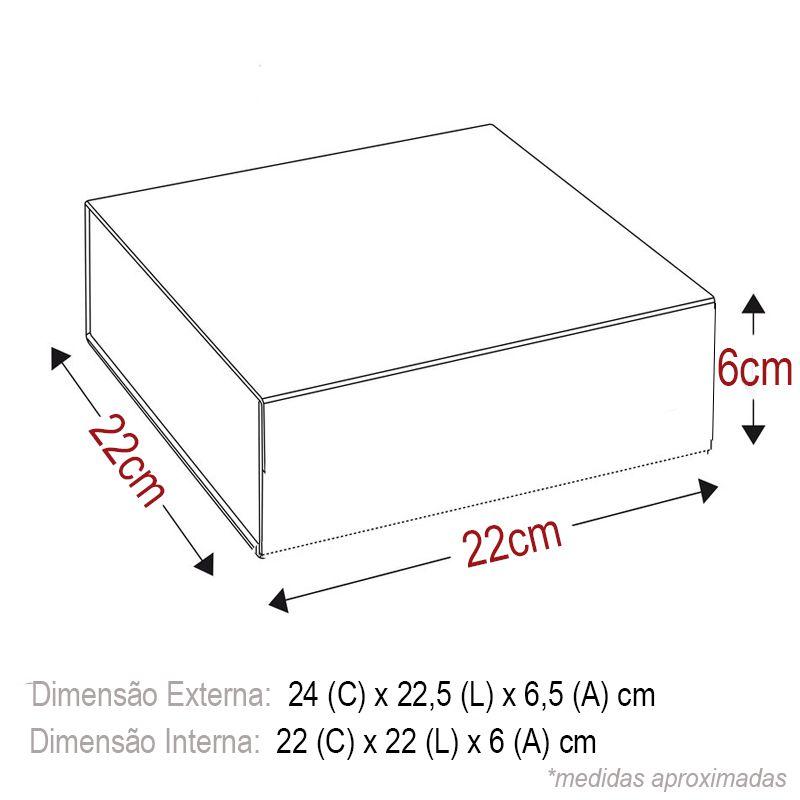 22 x 22 x 6cm - Caixa Rígida Magnética Colorida - Ref.0200014 - A partir de