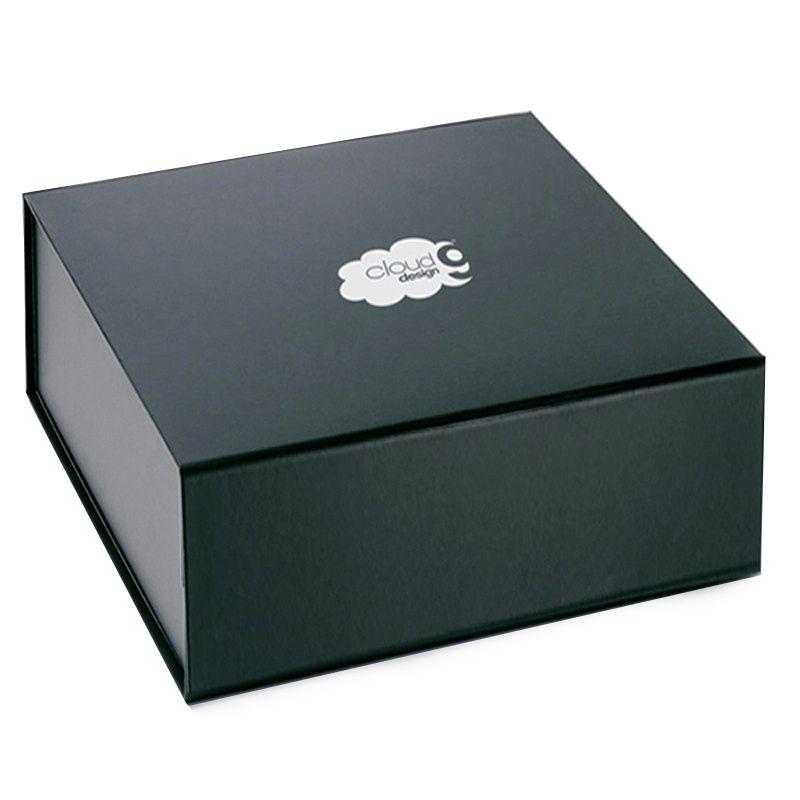 22 x 22 x 6cm - Caixa Rígida Magnética Preta - Ref.0200010 - A partir de