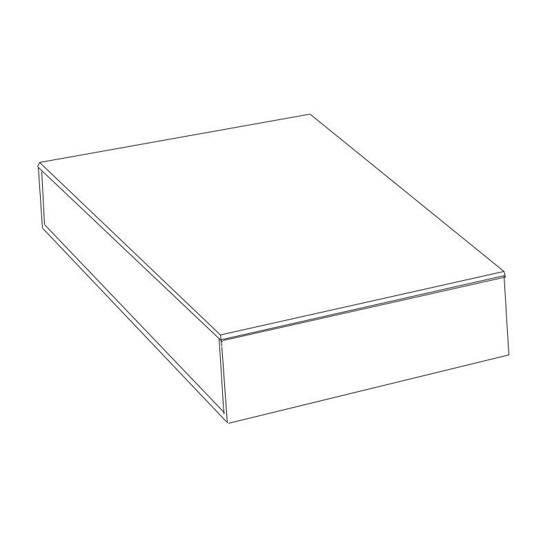 22 x 31 x 3,5cm - Caixa Premium Branca - Ref.025141