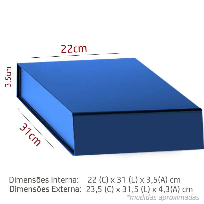 22 x 31 x 3,5CM - CAIXA PREMIUM MAGNÉTICA Color - REF.020142
