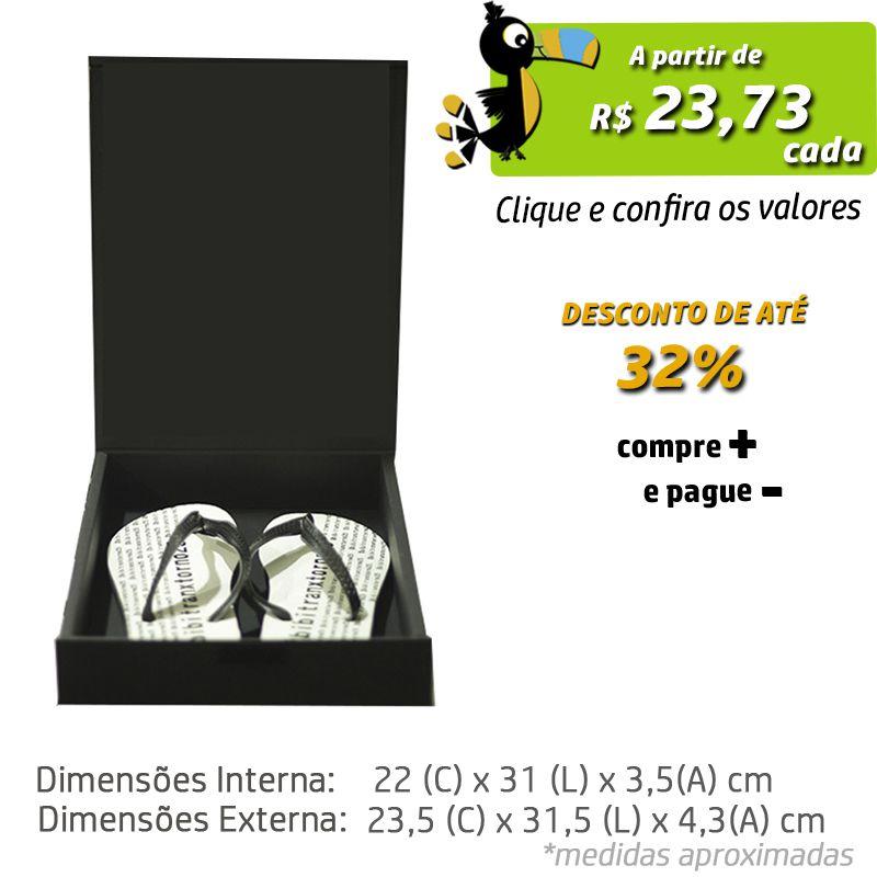 22 x 31 x 3,5cm - Caixa Premium Preta - Ref.025140