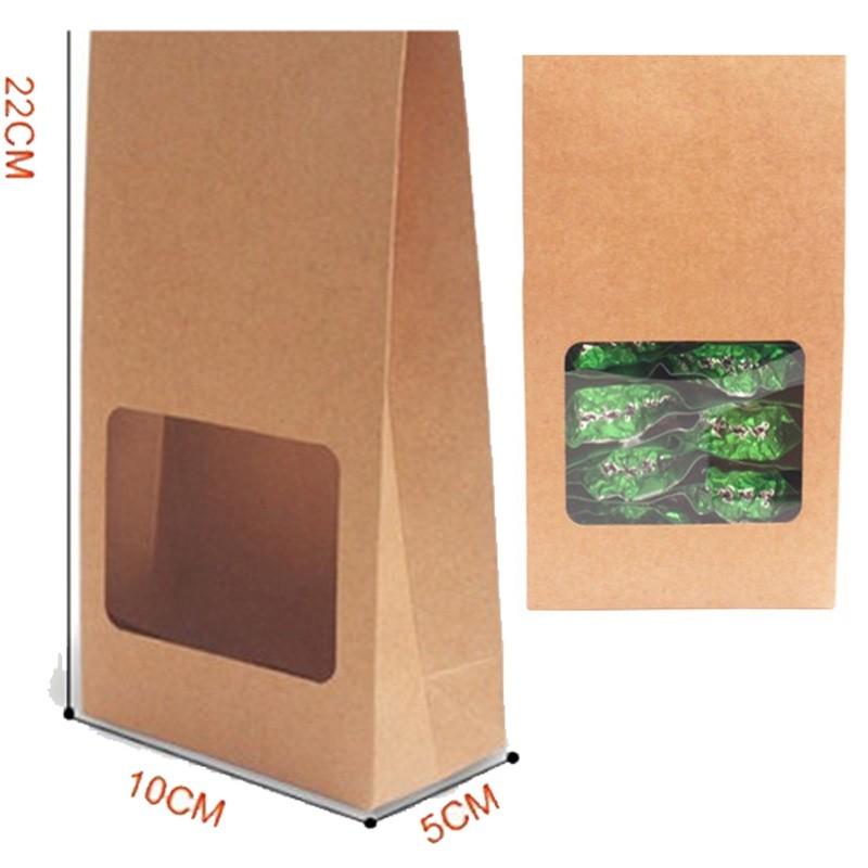 22x10x5cm - Saco Visor Quadrado c/ Acetato - Kraft 125g - Pct 50 un - Ref.0050025