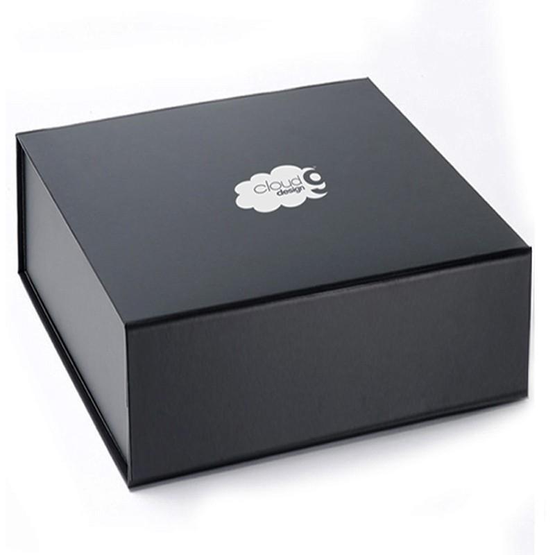 22x22x6cm - Caixa Rígida Dobrável Preta Imã - REF.0105012