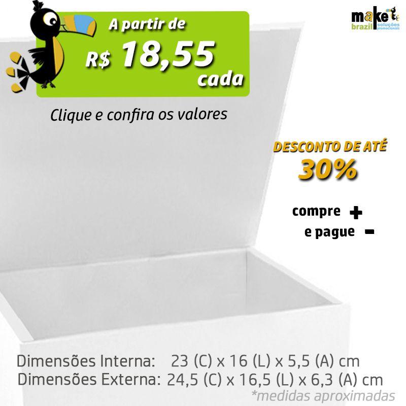 23 x 16 x 5,5cm - Caixa Premium Branca - Ref.025151