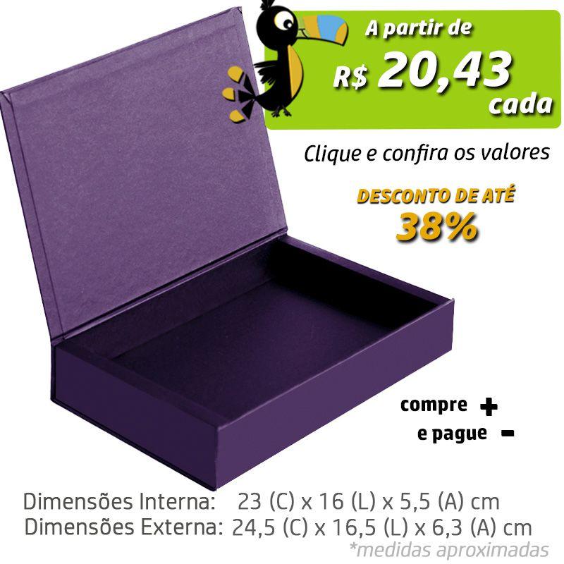 23 x 16 x 5,5cm - Caixa Premium Color - Ref.025152
