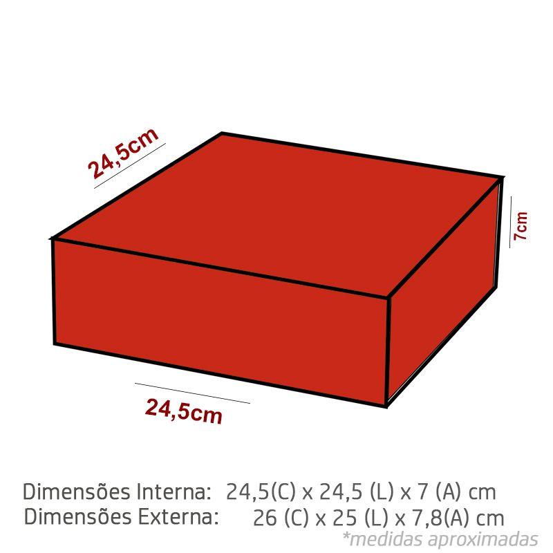 24,5 x 24,5 x 7cm - Caixa Premium Color - Ref.025192