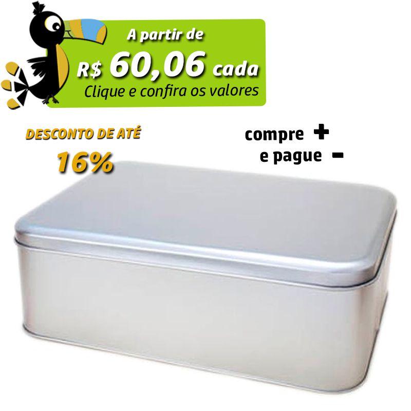 24,6 x 34,9 x 9,5cm - Lata Prata - REF.0010899