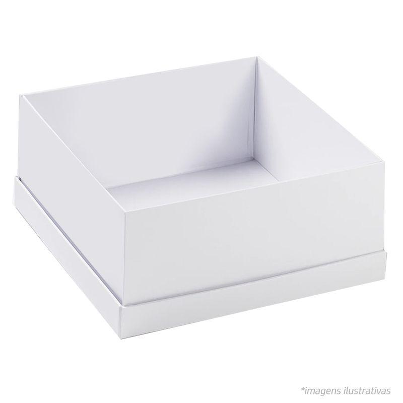 26,5 x 26,5 x 7cm - Caixa Tradicional Branca - Ref.029111