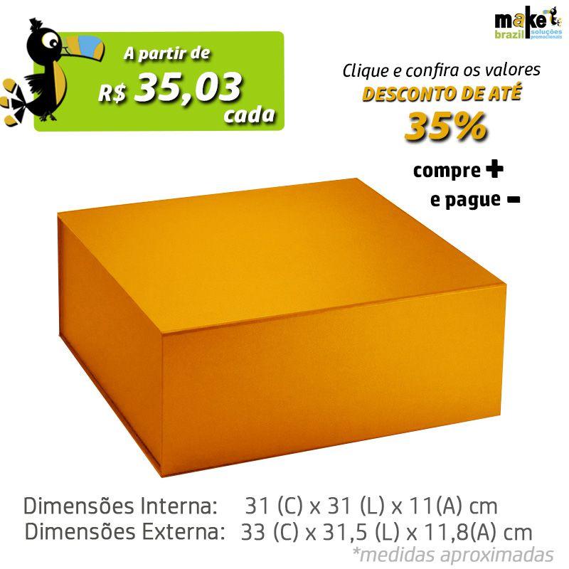 31 x 31 x 11CM - CAIXA PREMIUM MAGNÉTICA Color - REF.020232