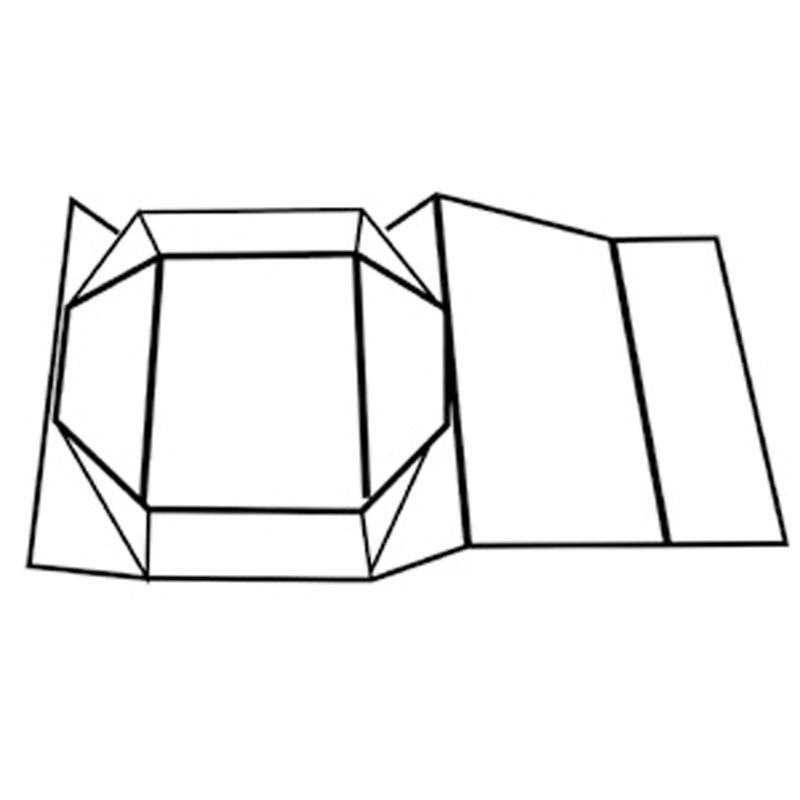 31x22x4cm - Caixa Rígida Dobrável Imã Preta - REF.0105032