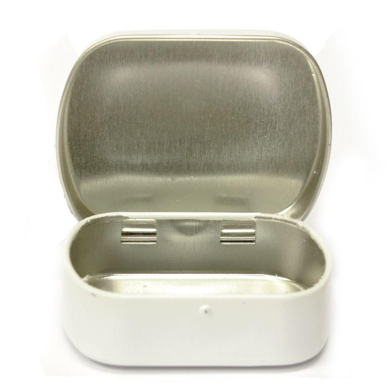 4,6 x 5,7 x 1,6 cm Lata com Dobradiças Branca - Ref.0015101