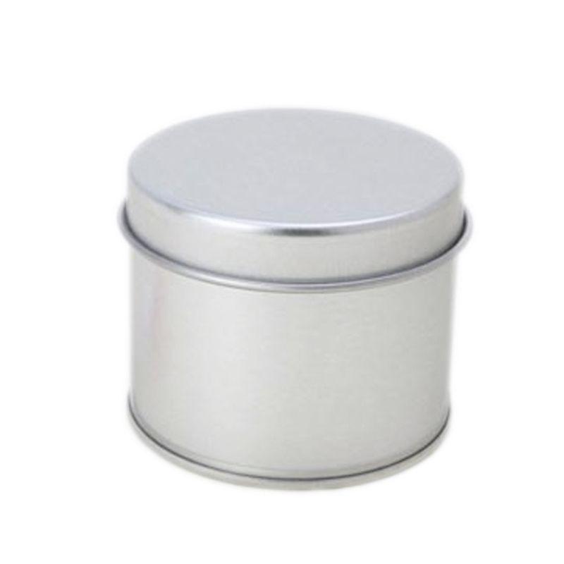 5,5 x 4,4cm - Lata Aço Redonda Prata