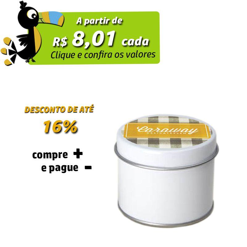 5,5 x 4,4cm - Lata Branca - REF.0011704
