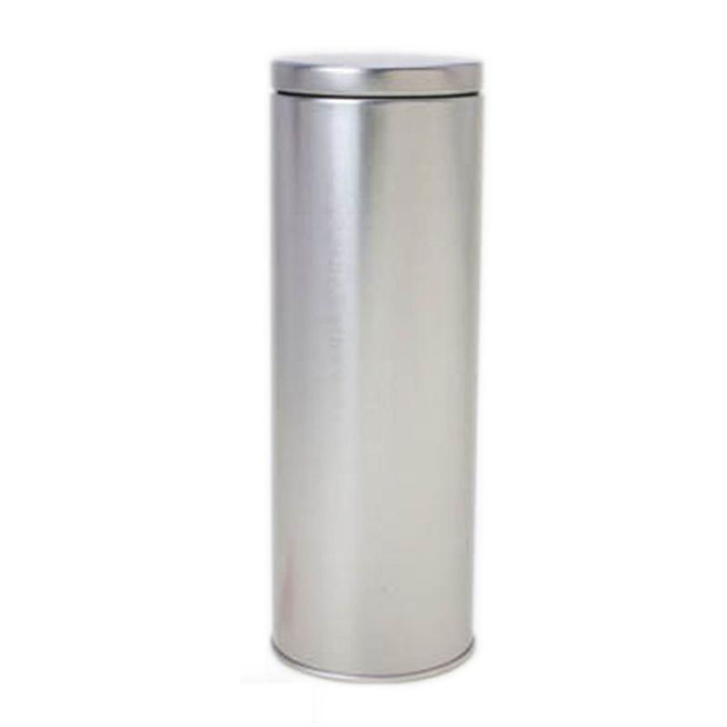 6,4 x 17,7 cm - Lata Cilíndrica Aço Prata