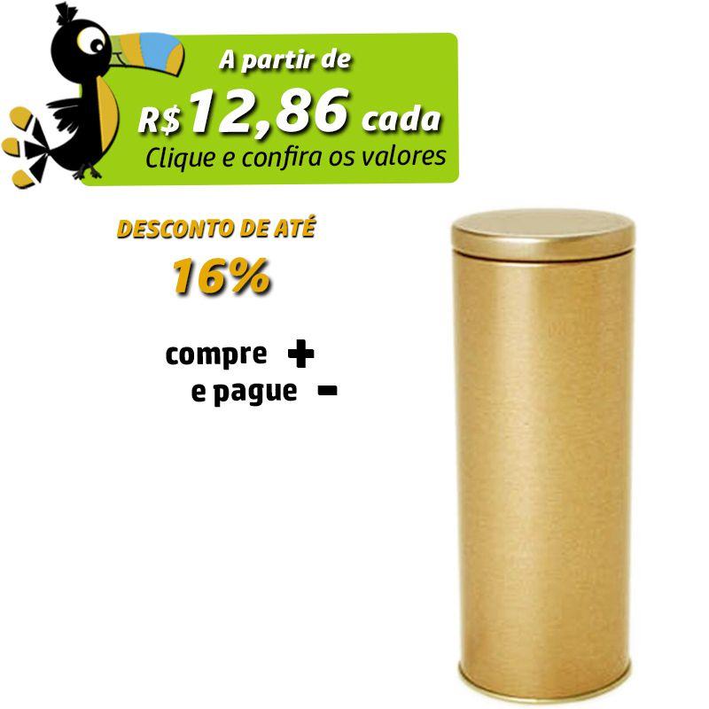 6,4 x 17,7cm - Lata Dourada - REF.0015111