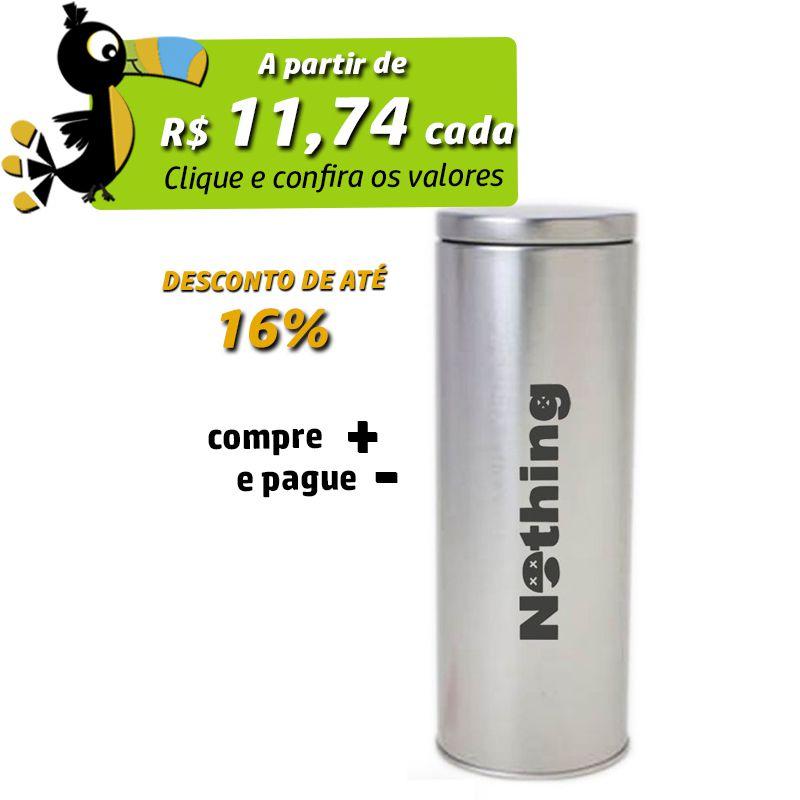 6,4 x 17,7cm - Lata Prata - REF.0010901