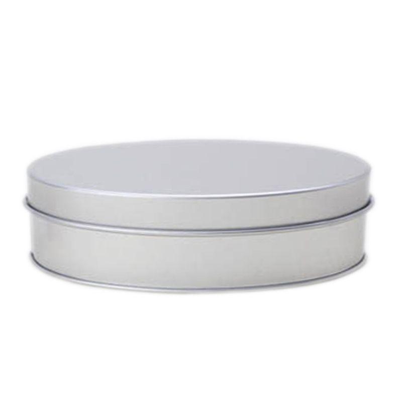 6,6 x 11,2 x 3,8cm - Lata Aço Oval Prata