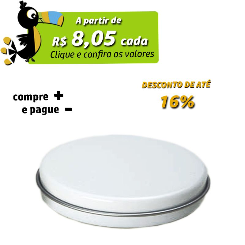 7,2 x 1,8cm - Lata Branca - REF.0015114