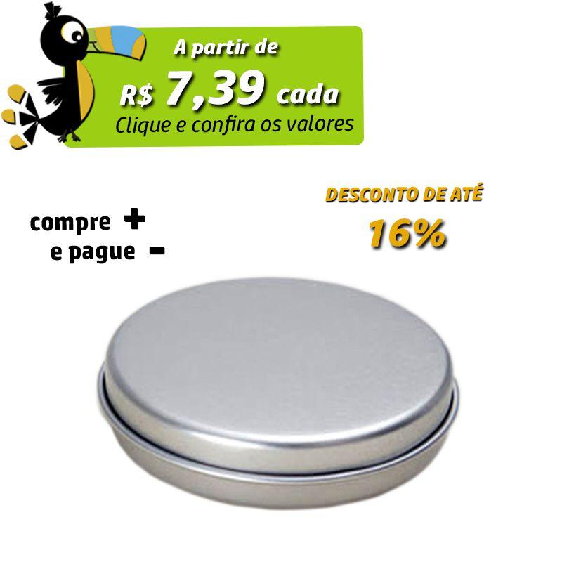 7,2 x 1,8cm - Lata Prata - REF.0015112