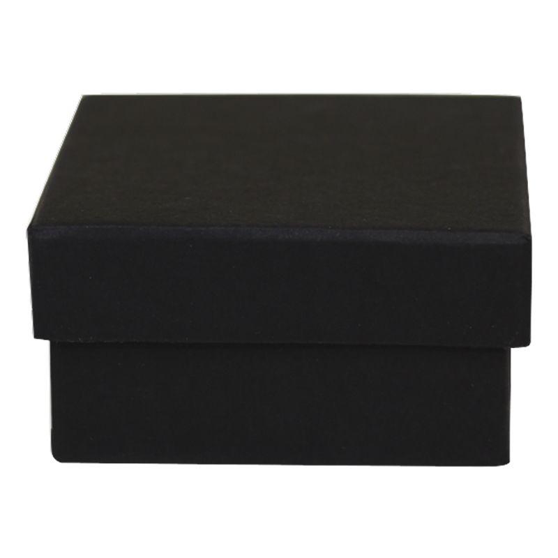 8 x 8 x 4cm - Caixa Rígida Tampa Solta Preta Ref.029030