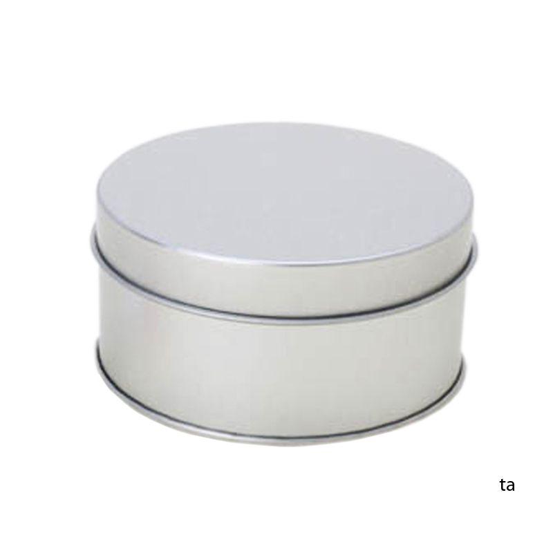 7,8 x 4,1cm - Lata Aço Redonda Prata