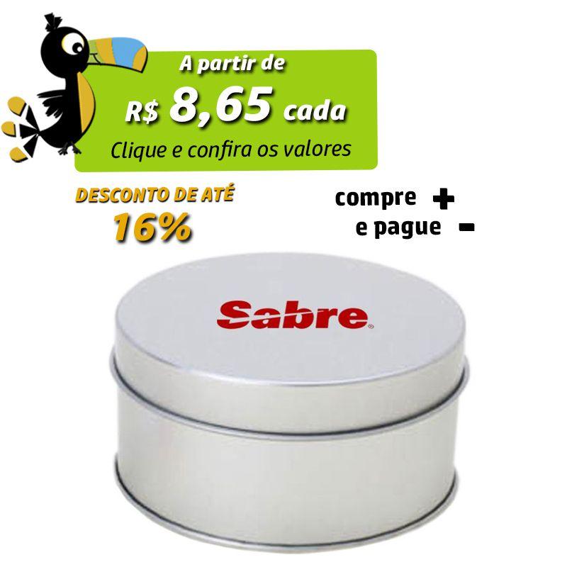 7,8 x 4,1cm - Lata Prata - REF.0010903