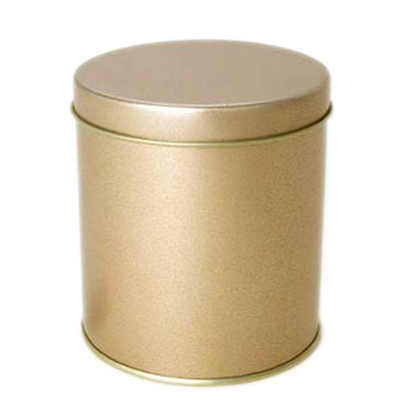 8,5 x 9,5cm - Lata Aço Redonda Dourada
