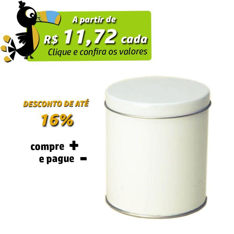 8,5 x 9,5cm - Lata Branca - REF.0010968