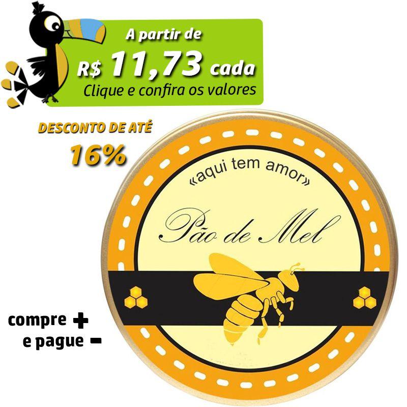 8,5 x 9,5cm - Lata Dourada - REF.0010966