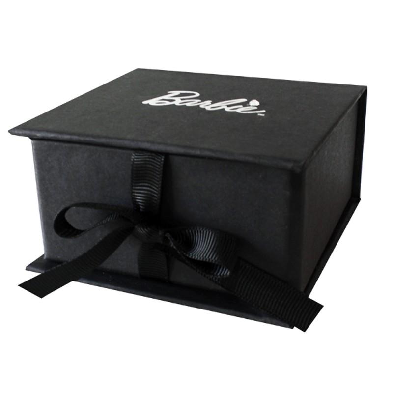 8x8x3,7cm - Caixa Rígida Articulada Preta Ref.0102002