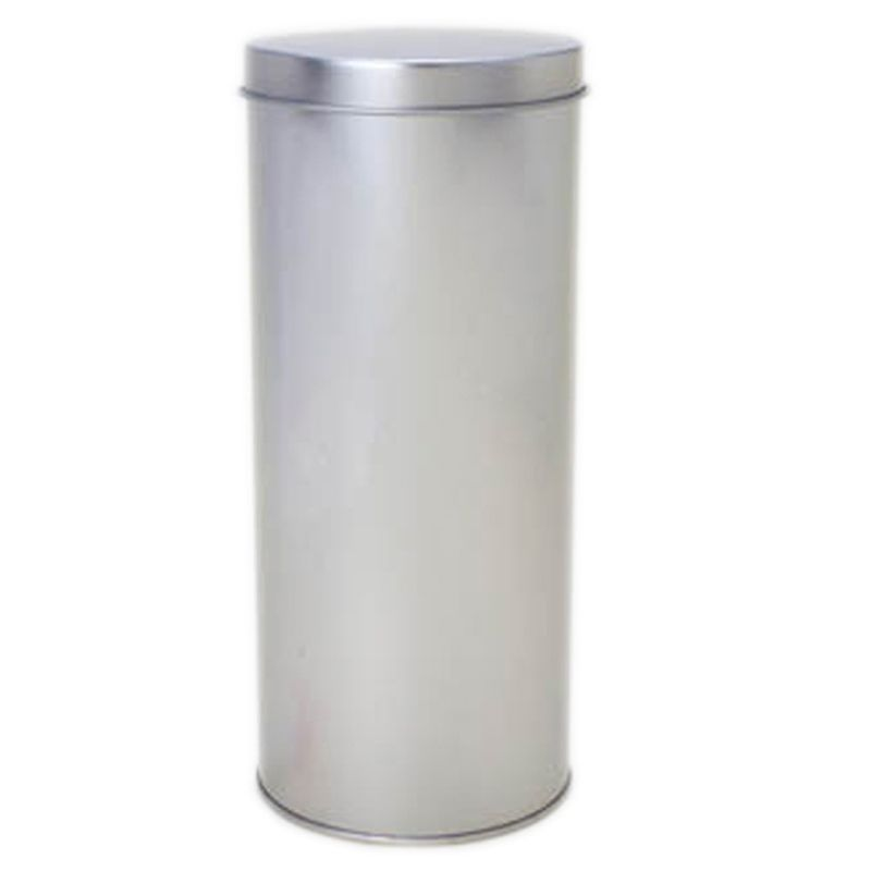 9,2 x 21,5cm - Lata Aço Cilíndrica Prata