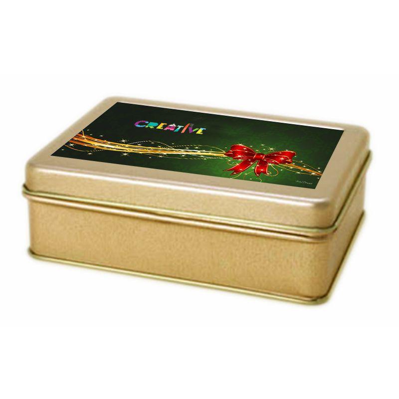 9,6x12,8x4 cm - Lata Dourada - Ref.0010951