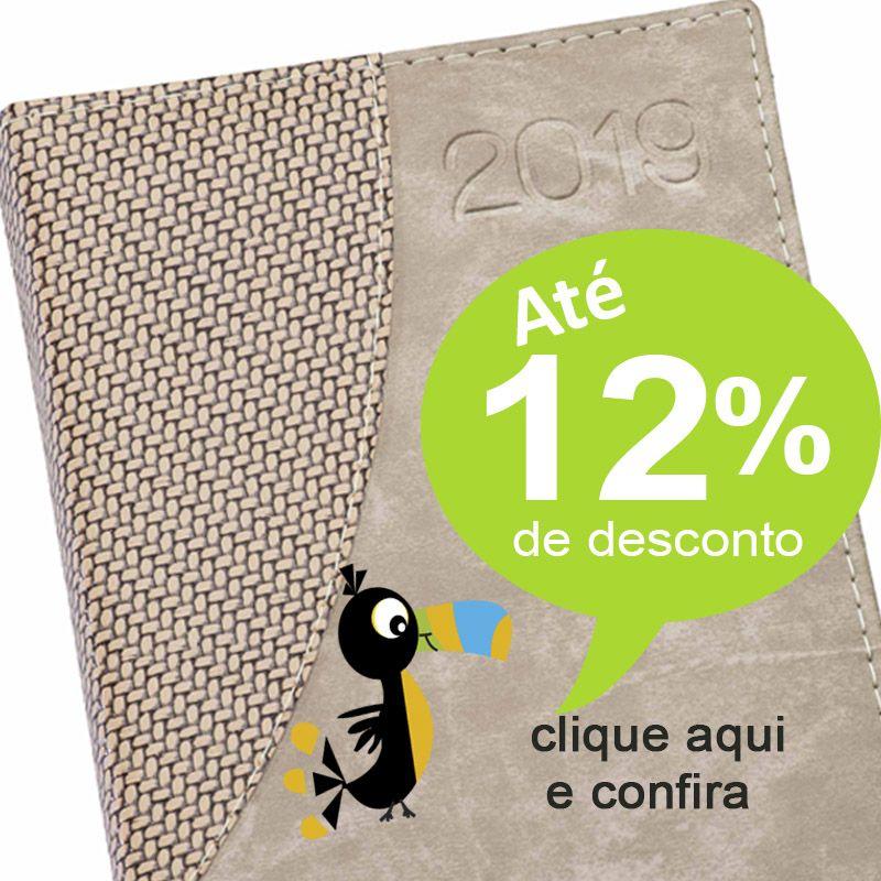 Agenda Personalizada Couro Palha -  2019 - Ref. 0014029