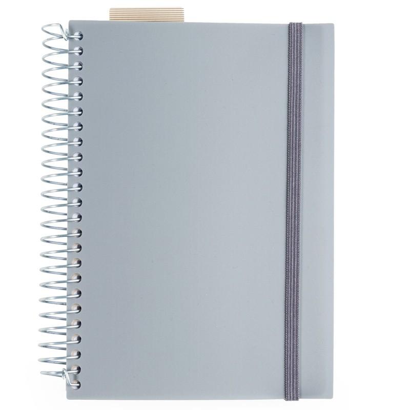 Agenda diária 2018 com espiral, capa plástica com lacre Ref. 0014050