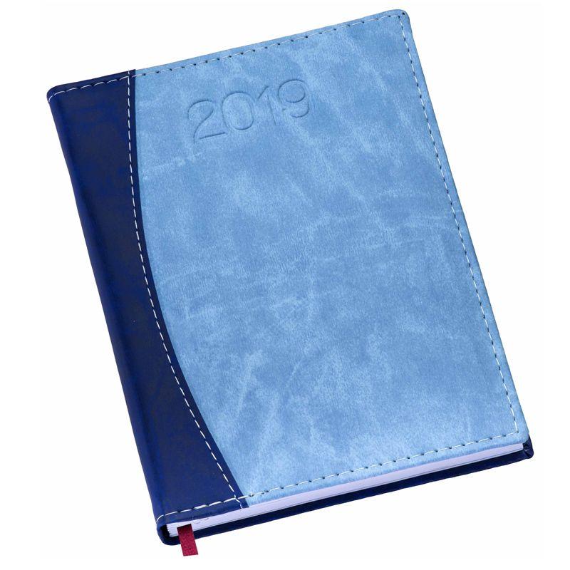 Agenda diária 2019, capa couro sintético - Azul Ref.0014075