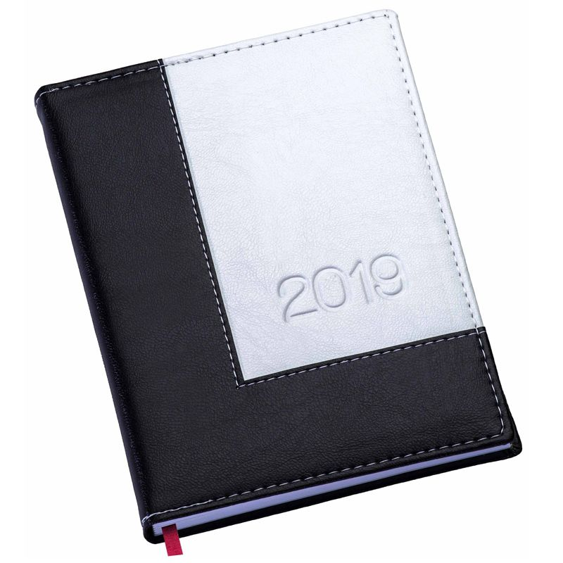 Agenda Diária 2019 Square, Capa de Couro Sintético - REF.0014480