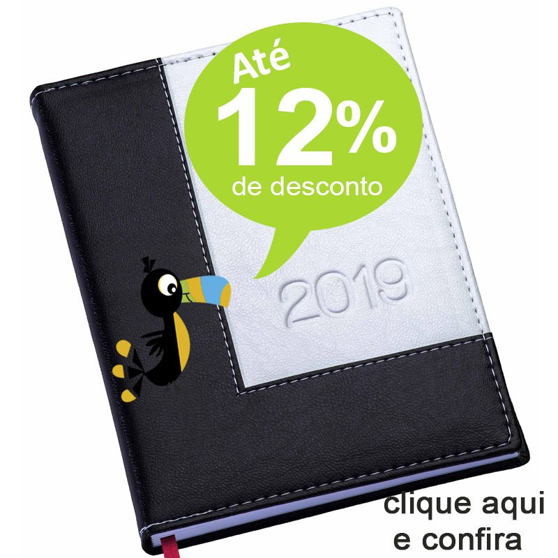 Agenda Diária 2019 Square - REF.0014480