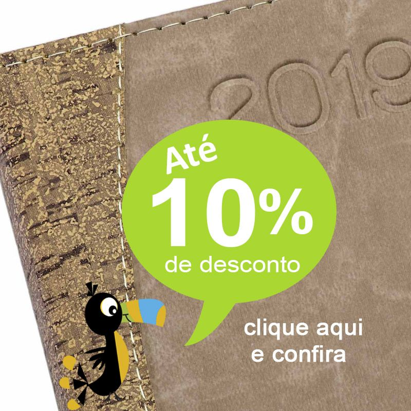 Agenda Personalizada Couro Cortiça - 2019 - Ref.0014031