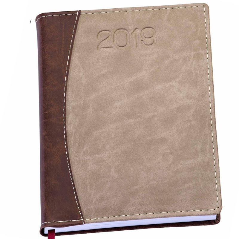 Agenda Personalizada Couro Marmorizada - 2019 - Ref.0014065
